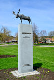 Sculpture of an elk in Nida, Lithuania Stock Images