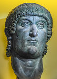 Sculpture Emperor Constantine. Sculpture, head of Roman Emperor Constantine Royalty Free Stock Photography