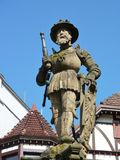 Sculpture of emperor Maximilian II Royalty Free Stock Images