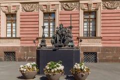 Sculpture of Emperor Paul I, Saint Petersburg, Russia. Sculpture of Emperor Paul I in Courtyard of Michael castle, Saint Petersburg, Russia royalty free stock image
