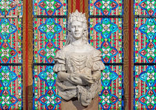 Sculpture of Empress Elisabeth of Austria in Matthias Church of Budapest Stock Images