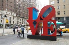 Sculpture en amour à New York Photo stock