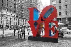 Sculpture en amour à New York Photos libres de droits