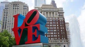 Sculpture en AMOUR à Philadelphie Photo libre de droits