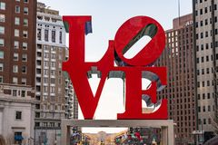 Sculpture en amour à Philadelphie, Pennsylvanie Photographie stock libre de droits