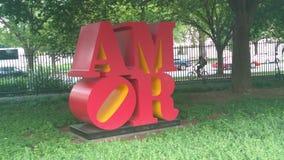 Sculpture en amour dans l'Espagnol Image stock