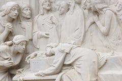 Sculpture en amour et en mort Amants de Teruel Culture d'héritage de l'Espagne image stock