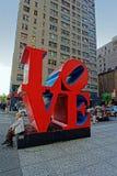 Sculpture en amour sur la 6ème avenue Images stock