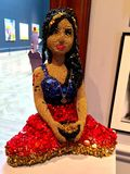 Sculpture en Amy Winehouse Images libres de droits