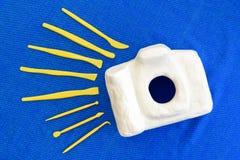Sculpture en appareil-photo avant raffiné en sculptant des outils Photo stock