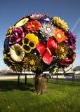 Sculpture en arbre de fleur à Lyon, France Photographie stock