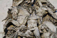 Sculpture en Arc de Triomphe Photo stock