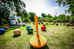 Sculpture en argile, céramique, vues colorées en Thaïlande Photographie stock libre de droits