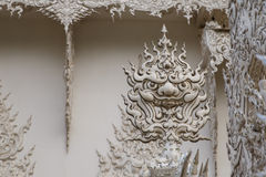 Sculpture en art de visage géant Photo stock