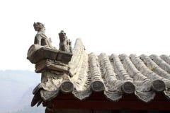 Sculpture en bête dans les gouttières dans un temple images libres de droits