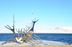 Sculpture en bateau Photographie stock