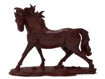 Sculpture en bois en cheval détaillé illustration stock