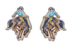 Sculpture en bois en cowboy Image libre de droits