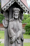 Sculpture en bois en Jésus Photo stock