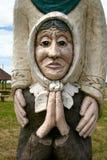 Sculpture en bois lithuanienne traditionnelle photo libre de droits