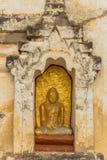 Sculpture en Bouddha dans Bagan Images libres de droits