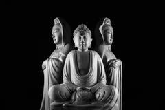 Sculpture en Bouddha et en Guan Yin /Guanshiyin de Bodhisattva/d'Avalokitasvara Photos libres de droits
