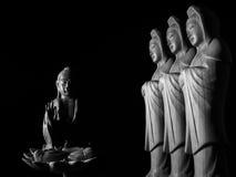 Sculpture en Bouddha et en Guan Yin /Guanshiyin de Bodhisattva/d'Avalokitasvara Images stock