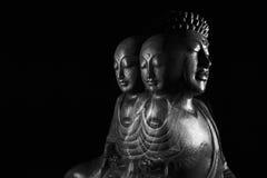 Sculpture en Bouddha et en Ksitigarbha Photos libres de droits