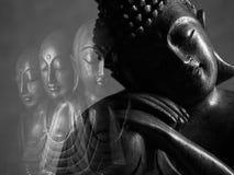 Sculpture en Bouddha et en Ksitigarbha Photo libre de droits