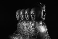Sculpture en Bouddha et en Ksitigarbha Photo stock
