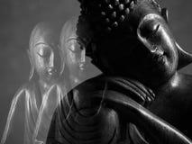 Sculpture en Bouddha et en Ksitigarbha Photographie stock libre de droits