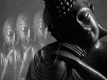 Sculpture en Bouddha et en Ksitigarbha Photos stock