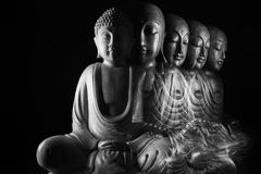 Sculpture en Bouddha et en Ksitigarbha Images libres de droits