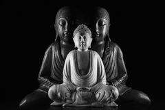Sculpture en Bouddha et en Ksitigarbha Image libre de droits