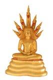 Sculpture en Bouddha et sept naga Photo libre de droits