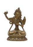 Sculpture en bronze antique de Bouddha Photo stock