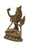 Sculpture en bronze antique de Bouddha Images stock