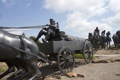 Sculpture en bronze dans l'Oklahoma images libres de droits