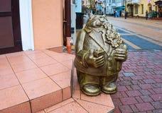 Sculpture en bronze de chat prussien image stock