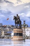 Sculpture en bronze de Dame Gruev à Skopje du centre, Macédoine Photos libres de droits