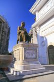 Sculpture en bronze de Hristo Tatarchev à Skopje du centre, Macedon Photographie stock libre de droits