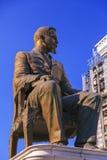 Sculpture en bronze de Hristo Tatarchev à Skopje du centre, Macedon Photos stock