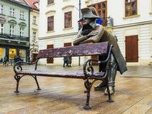 Sculpture en bronze de napoléon, Bratislava, Slovaquie Photographie stock