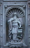 Sculpture en bronze en St Isaac Dalmatian Image libre de droits