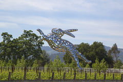 Sculpture en Bunny Foo Foo chez Hall Winery dans Napa Valley photo libre de droits