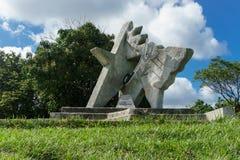 Sculpture en Che Guevara en parc dans Las Terrazas, Pinar del Rio, Cuba Photos stock