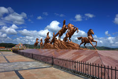 Sculpture en cheval Photo stock