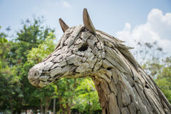 Sculpture en cheval Images libres de droits