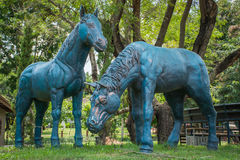 Sculpture en cheval Photos libres de droits