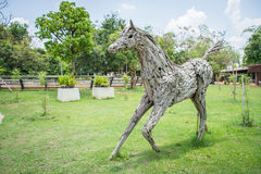 Sculpture en cheval Photographie stock
